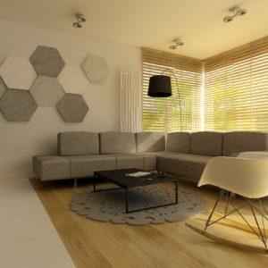 beton dekor sześciokąt prosty