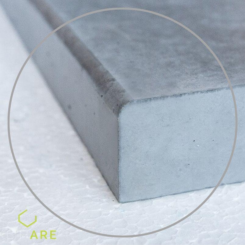 Parapet betonowy z fazowaniem zaokrąglonym