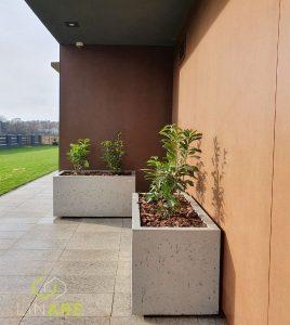 Donice betonowe z betonu architektonicznego