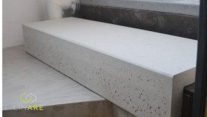 parapet betonowy narożny z betonu architektonicznego